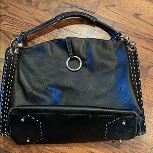 BCBG Maxazria Black Leather Purse